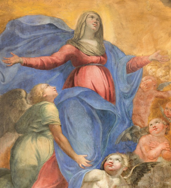 ROME, ITALY - MARCH 27, 2015: The fresco of Immaculate Conceptio
